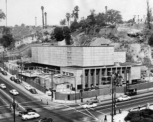 1953: The Los Angeles County Law Library at 1st St. and Broadway near completion. This photo was published in the Sep. 2, 1953 Los Angeles Times.